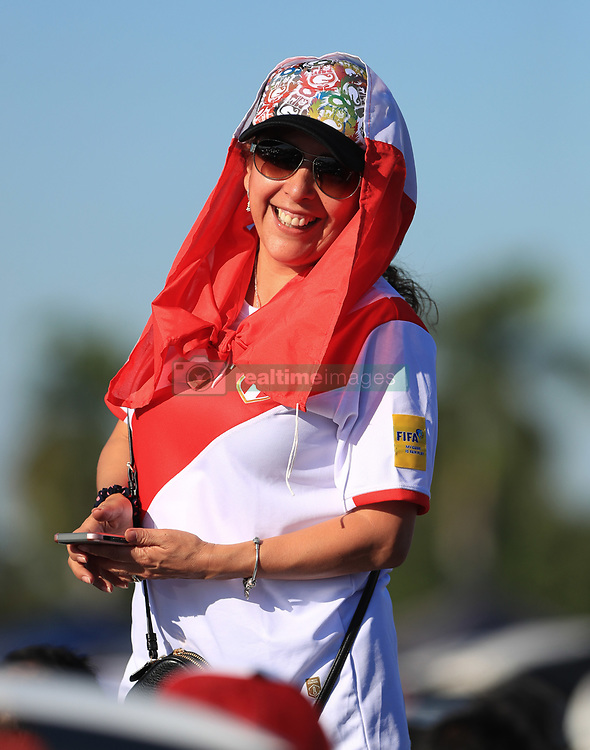 March 23, 2018 - Miami Gardens, Florida, USA - A Peruvian fans poses for a photo outside of the stadium before the FIFA 2018 World Cup preparation match between the Peru National Soccer Team and the Croatia National Soccer Team at the Hard Rock Stadium in Miami Gardens, Florida. (Credit Image: © Mario Houben via ZUMA Wire)