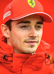 February 19, 2019 - Barcelona, Catalonia, Spain - CHARLES LECLERC (MON) from team Ferrari is seen in the paddock during day two of the Formula One winter testing at Circuit de Catalunya (Credit Image: © Matthias OesterleZUMA Wire)