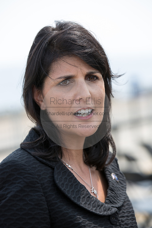 South Carolina Governor Nikki Haley during a visit to Port of Charleston Columbus Container Terminal on September 16, 2013 in Charleston, South Carolina.