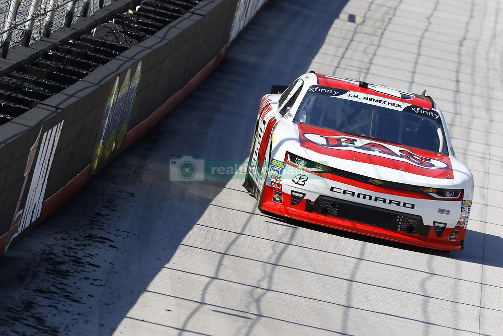 April 13, 2018 - Bristol, Tennessee, United States of America - April 13, 2018 - Bristol, Tennessee, USA: John Hunter Nemechek (42) brings his car down the backstretch during final practice for the Fitzgerald Glider Kits 300 at Bristol Motor Speedway in Bristol, Tennessee. (Credit Image: © Chris Owens Asp Inc/ASP via ZUMA Wire)