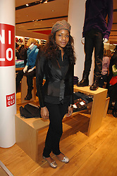 Actress NAOMI HARRIS at a party to celebrate the opening of the new Uniqlo store at 331 Oxford Street, London W1 on 6th November 2007.<br /><br />NON EXCLUSIVE - WORLD RIGHTS