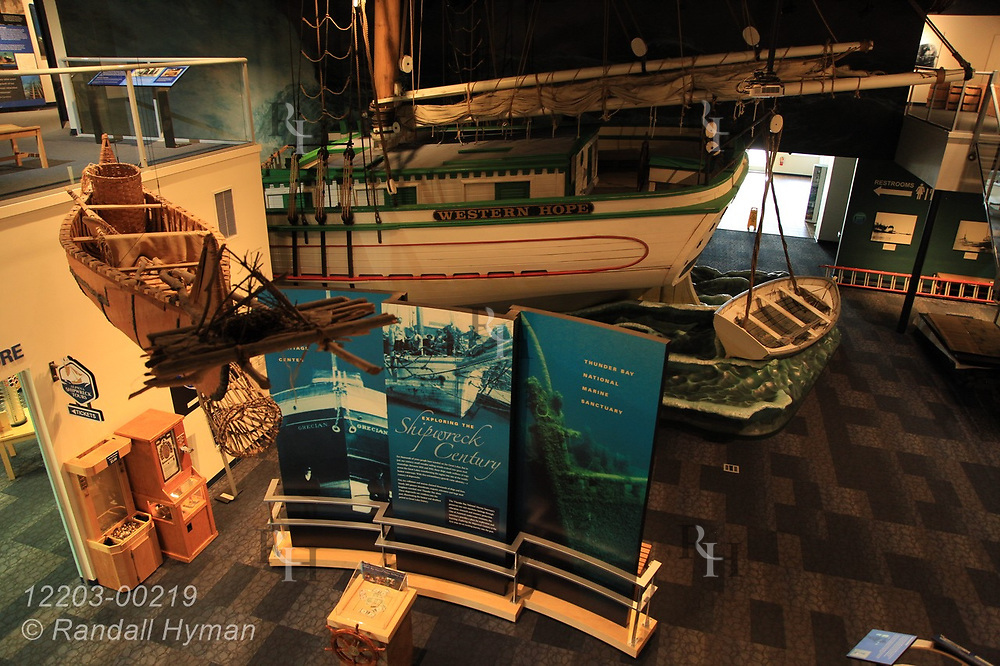 Dioramas and interactive exhibits fill NOAA's Great Lakes Maritime Heritage Center in Alpena, Michigan.