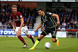 Liam Sercombe of Bristol Rovers goes past Dean Bowditch of Northampton Town - Mandatory by-line: Robbie Stephenson/JMP - 07/10/2017 - FOOTBALL - Sixfields Stadium - Northampton, England - Northampton Town v Bristol Rovers - Sky Bet League One