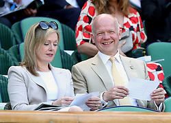 William Hague and his wife Ffion on day five of the Wimbledon Championships at The All England Lawn Tennis and Croquet Club, Wimbledon.