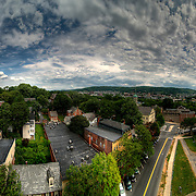 An incredible sky and a long panorama stitch add to the effect here. This shot stretches 180 degrees around the front right corner of Historic Hotel Bethlehem. You can see from the old Bank of America building on the left all the way to 378 and St. Lukes on the right.