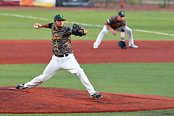29 July 2016: Michael Schweiss during a Frontier League Baseball game between the Lake Erie Crushers and the Normal CornBelters at Corn Crib Stadium on the campus of Heartland Community College in Normal Illinois