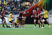 Crusaders Leicester Fainga'anuku. Super Rugby Aotearoa. Hurricanes v Crusaders, Sky Stadium, Wellington. Sunday 11th April 2021. Copyright photo: Grant Down / www.photosport.nz
