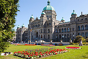 The Parliament Building in Victoria, British Columbia, Canada.
