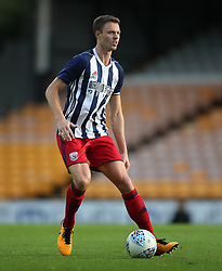 """West Bromwich Albion's Jonny Evans during the pre-season friendly match at Vale Park, Stoke. PRESS ASSOCIATION Photo. Picture date: Tuesday August 1, 2017. See PA story SOCCER Port Vale. Photo credit should read: Nick Potts/PA Wire. RESTRICTIONS: EDITORIAL USE ONLY No use with unauthorised audio, video, data, fixture lists, club/league logos or """"live"""" services. Online in-match use limited to 75 images, no video emulation. No use in betting, games or single club/league/player publications."""