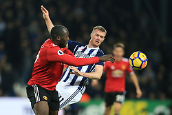 17th December 2017 - Premier League - West Bromwich Albion v Manchester United - Romelu Lukaku of Man Utd battles with Chris Brunt of West Brom - Photo: Simon Stacpoole / Offside.