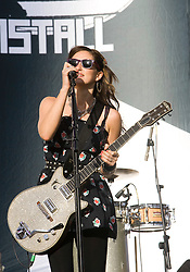 KT Tunstall on the Main stage at T in the Park Friday 11 July 2008..T in the Park 2008 festival took place on the Friday 10th July, Saturday 11th July and Sunday 12th July, at Balado, near Kinross in Perth and Kinross, Scotland..Pic ©Michael Schofield. All Rights Reserved..
