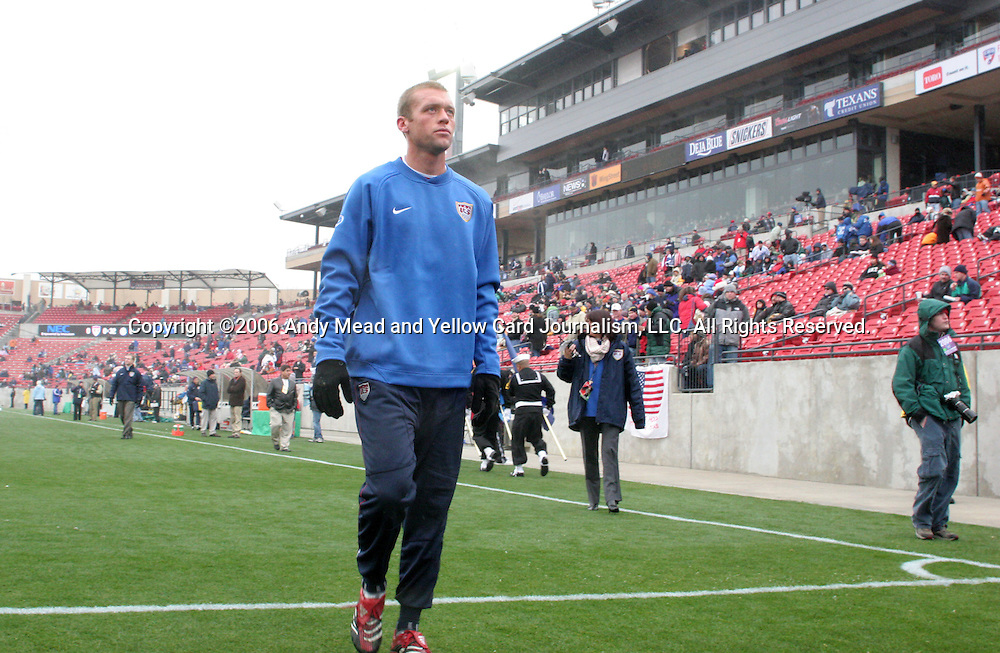 Jimmy Conrad, of the United States, on Sunday, February 19th, 2005 at Pizza Hut Park in Frisco, Texas. The United States Men's National Team defeated Guatemala 4-0 in a men's international friendly.