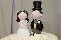 Bride and groom cake decoration.