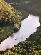 Watersports on Wailua River in Wailua River National Park, Kaua'i, Hawai'i