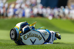 August 10, 2018 - St. Louis, MO, U.S. - ST. LOUIS, MO - AUGUST 10:  Kevin Kisner's (USA) bag lays on the third green during Round 2 of the PGA Championship August 10, 2018, at Bellerive Country Club in St. Louis, MO.  (Photo by Tim Spyers/Icon Sportswire) (Credit Image: © Tim Spyers/Icon SMI via ZUMA Press)