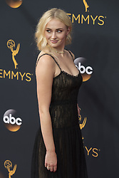 September 18, 2016 - Los Angeles, California, U.S. - ''Games of Thrones'' actress SOPHIE TURNER arrives for the 68th Annual Primetime Emmy Awards, held at the Nokia Theatre. (Credit Image: © Kevin Sullivan via ZUMA Wire)