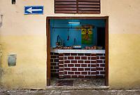 HAVANA, CUBA - CIRCA October 2017  Butcher Shop in Old Havana, Cuba.
