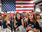 08 SEPTEMBER 2019 - AMES, IOWA: Students at Iowa State University in Ames listen to US Senator Bernie Sanders speak at a campaign event. Sanders is campaigning to be the Democrats' nominee for the 2020 US Presidential election. Iowa holds the first in the country selection contest with state caucuses on Feb. 3, 2020.       PHOTO BY JACK KURTZ