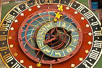 Astronomical clock built between 1527 and 1530 by Caspar Brunner, The Clock Tower (Zytglogge), Bern, Canton Bern, Switzerland