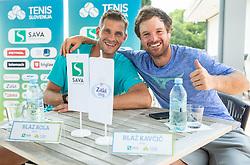 Blaz Rola and Blaz Kavcic during press conference of Tenis Slovenija, on August 11, 2020 in Portoroz / Portorose, Slovenia. Photo by Vid Ponikvar / Sportida