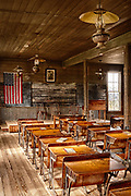 Classroom in an old school in Dallas, Texas that was in use from 1888 to 1919.