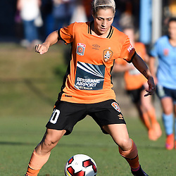BRISBANE, AUSTRALIA - OCTOBER 30: Katrina Gorry of the Roar in action during the round 1 Westfield W-League match between the Brisbane Roar and Sydney FC at Spencer Park on November 5, 2016 in Brisbane, Australia. (Photo by Patrick Kearney/Brisbane Roar)