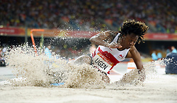 England's Lorraine Ugen competes in the Women's Long Jump Qualifying Round - Group B at the Carrara Stadium during day seven of the 2018 Commonwealth Games in the Gold Coast, Australia.