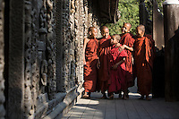 """Novice monks, Mandalay, Myanmar<br /> Available as Fine Art Print in the following sizes:<br /> 08""""x12""""US$   100.00<br /> 10""""x15""""US$ 150.00<br /> 12""""x18""""US$ 200.00<br /> 16""""x24""""US$ 300.00<br /> 20""""x30""""US$ 500.00"""