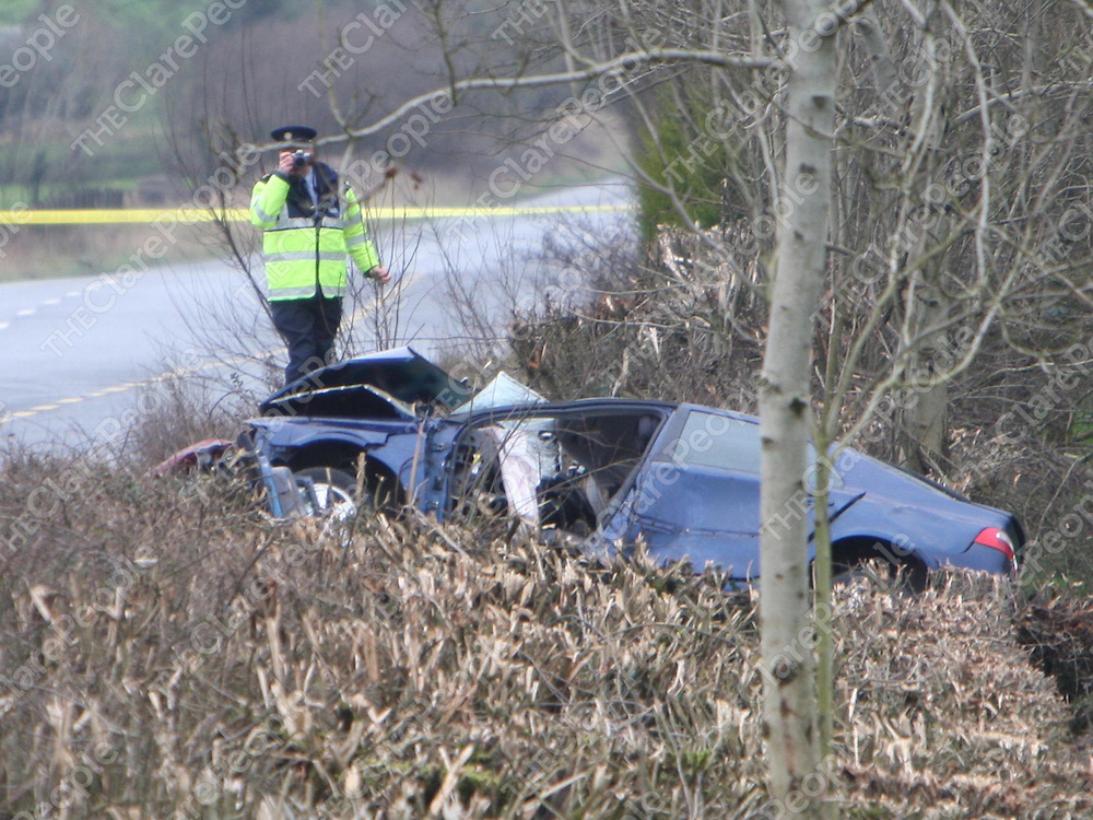 2/2/2008<br />The scene on the N7 on Saturday morning between Roscrea, Co. Tipperary and Borris-on-Ossory , Co. Laois where 4 people were killed and one seriously injured when two cars a Renault and Opel were involved in a head on collision.<br />Picture: Liam Burke/Press 22
