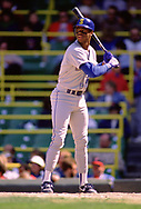 CHICAGO - 1989:  Ken Griffey Jr. of the Seattle Mariners bats during an MLB game against the Chicago White Sox at Comiskey Park in Chicago, Illinois during the 1989 season. (Photo by Ron Vesely)  Subject:  Fred McGriff
