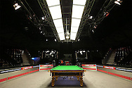 a general View of the table before todays match. Ronnie O'Sullivan v Liang Wenbo, 1st round match at the Dafabet Masters Snooker 2017, day 1 at Alexandra Palace in London on Sunday 15th January 2017.<br /> pic by John Patrick Fletcher, Andrew Orchard sports photography.