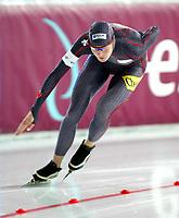 speed skating skøyter 1500 meter damer 9. november 2003 ISU world cup Hamar Olympic Hall - Vikingskipet Kristina Groves Canada<br />Fotograf: Kurt Pedersen Digitalsport