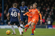 Luton Town midfielder Luke Berry (8) passes the ball during the EFL Sky Bet League 1 match between Southend United and Luton Town at Roots Hall, Southend, England on 26 January 2019.