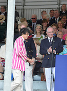 Henley, GREAT BRITAIN. [The Princess Elizabeth Challenge Cup (JM8+)]  Abingdon School, collect, their Trophy,  from, left, The Rt. Hon. The Lord Mayor of London. Alderman David WOTTON at 2012 Henley Royal Regatta...Sunday  17:51:00  01/07/2012. [Mandatory Credit, Peter Spurrier/Intersport-images]...Rowing Courses, Henley Reach, Henley, ENGLAND . HRR.