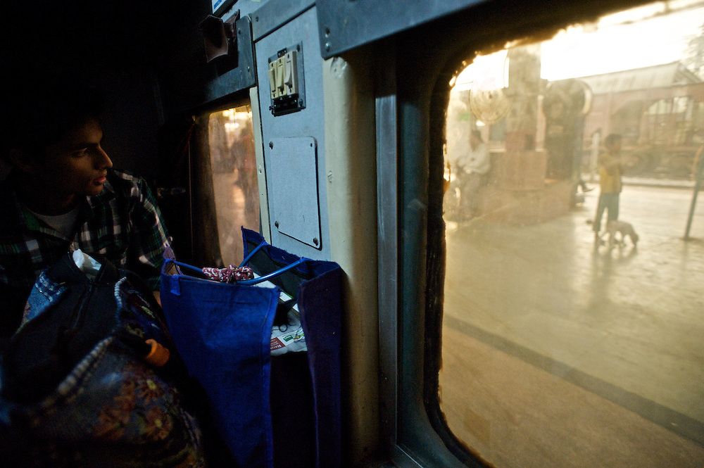 This gallery contains images made from the train window on the Swatantrata S Express Train from Delhi to Varanasi, India in November of 2011.