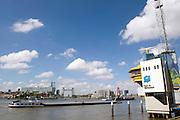 Radar voor schepen die op de rivier Nieuwe Maas varen, Rotterdam, Zuid Holland  Radar for ships on the river Nieuwe Maas, Rotterdam, Netherlands