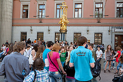 stock photo of a gathering of people in russia
