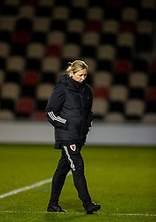 NEWPORT, WALES - Thursday, October 22, 2020: Wales' national women's team manager Jayne Ludlow after the UEFA Women's Euro 2022 England Qualifying Round Group C match between Wales Women and Faroe Islands Women at Rodney Parade. Wales won 4-0. (Pic by David Rawcliffe/Propaganda)