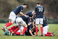 Falkirk's team mates celebrates Blair Alston coring their second goal..Hamilton 1 v 2 Falkirk, Scottish Cup quarter-final, Saturday, 2nd March 2013..©Michael Schofield.