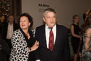 PROF SARAH WILSON; SIR NORMAN ROSENTHAL;, Ai Weiwei, Royal Academy, Piccadilly. London.  15 September 2015.