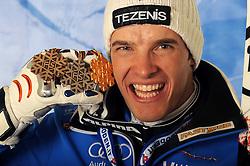 14.02.2011, Kandahar, Garmisch Partenkirchen, GER, FIS Alpin Ski WM 2011, GAP, Herren, Super Combination, im Bild zweiter, silber Medaille Christof Innerhofer (ITA) // second, silver medal Christof Innerhofer (ITA) during Supercombi Men Fis Alpine Ski World Championships in Garmisch Partenkirchen, Germany on 14/2/2011. EXPA Pictures © 2011, PhotoCredit: EXPA/ E. Spiess