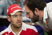 May 25-29, 2016: Monaco Grand Prix.  Sebastian Vettel (GER), Ferrari,  FIA Press Conference