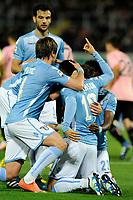 Esultanza dopo il gol di Felipe Anderson 0-3 Goal celebration <br /> Palermo 10-04-2016 Stadio La Favorita Serie A Campionato italiano di Calcio 2015/2016 Palermo - Lazio <br /> Foto Insidefoto