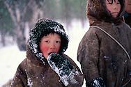 Nenets kids, Kánin Peninsula, Russia, Arctic