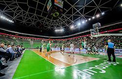 Arena during basketball match between KK Cedevita Olimpija and Darussafaka Tekfen Istanbul in 1st Round of Eurocup 2019/20, on October 2, 2019 in Arena Stozice, Ljubljana, Slovenia. Photo by Vid Ponikvar / Sportida