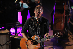 July 3, 2018 - Athens, Greece - Singer Joey Burns. Calexico in concert at the  Odeon of Herodes Atticus in Athens. (Credit Image: © Aristidis Vafeiadakis via ZUMA Wire)