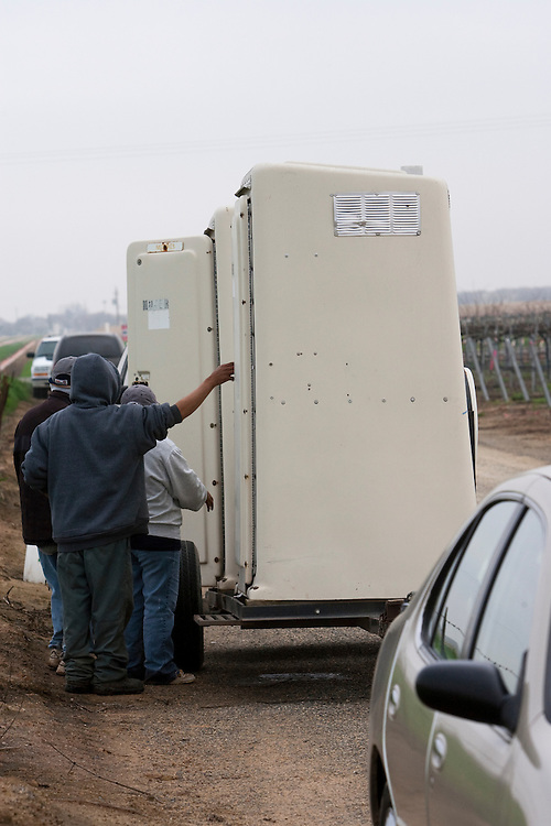 Portable bathrooms used by migrant workers. Please contact Todd Bigelow directly with your licensing requests.