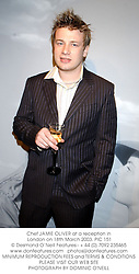 Chef JAMIE OLIVER at a reception in London on 18th March 2003.PIC 151