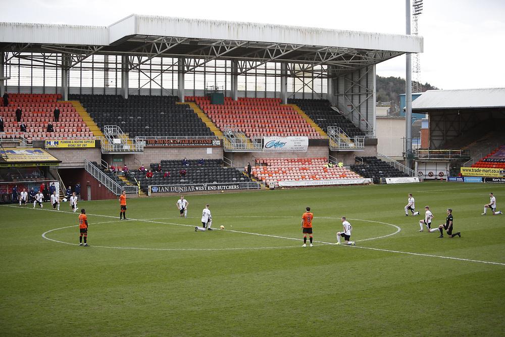 DUNDEE, SCOTLAND, MARCH 20 2021:  Dundee Utd V Aberdeen FC Ladbrokes SPFL Premiership fixture at Tannadice Park, Dundee.<br /> <br /> Pictured: <br /> <br /> <br /> (Photo: Ross Johnston/Newsline Media)