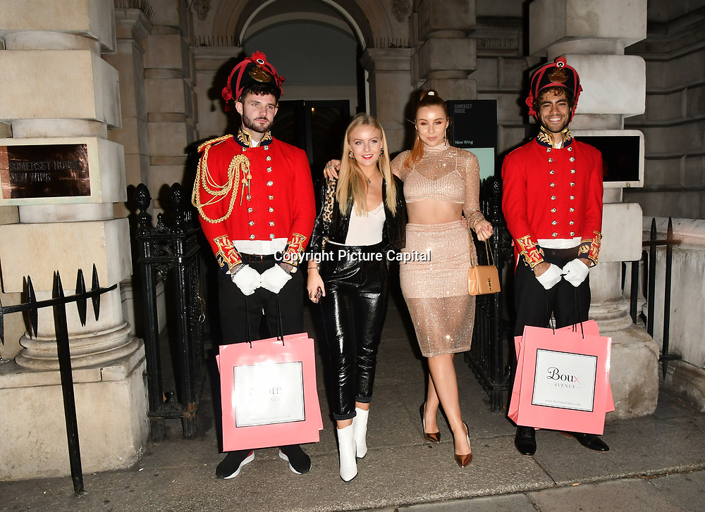 GUESTS ARRIVERS BOUX AVENUE XMAS CAMPAIGN LAUNCH EVENT at SOMERSET HOUSE, on 9 November 2018, London, UK.